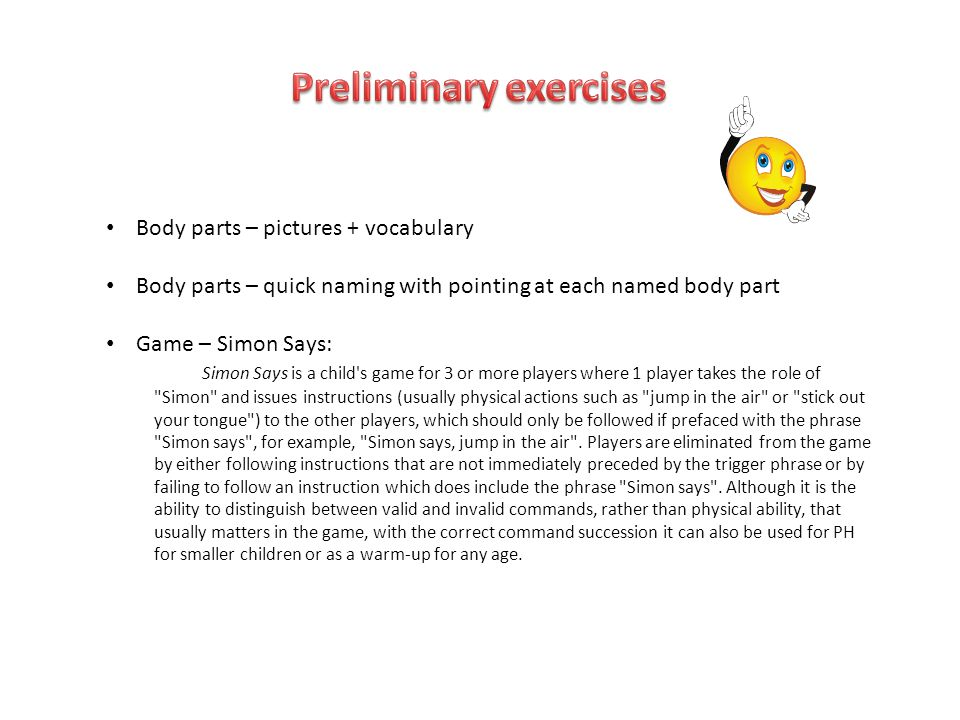 Body Parts Pictures Vocabulary Body Parts Quick Naming With