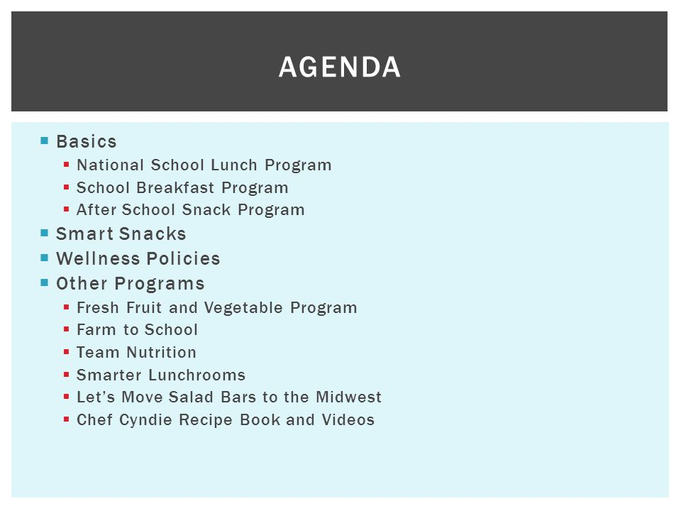 The new child nutrition program presenters sarah kenworthy 3 basics national school lunch thecheapjerseys Choice Image