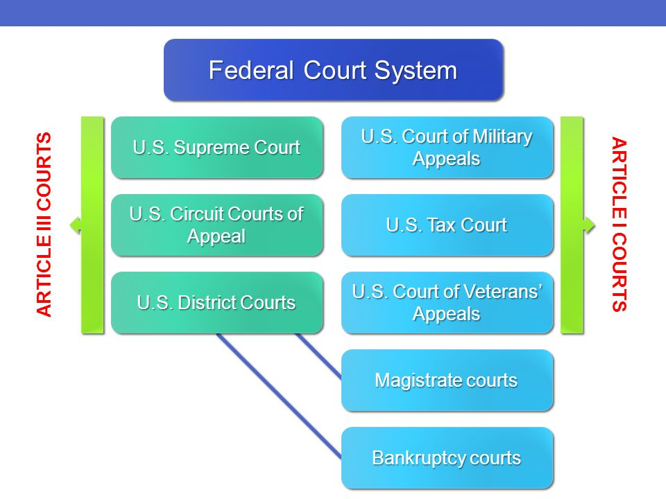 Federal Court System U.S. Supreme Court U.S. Circuit Courts of Appeal U.S.