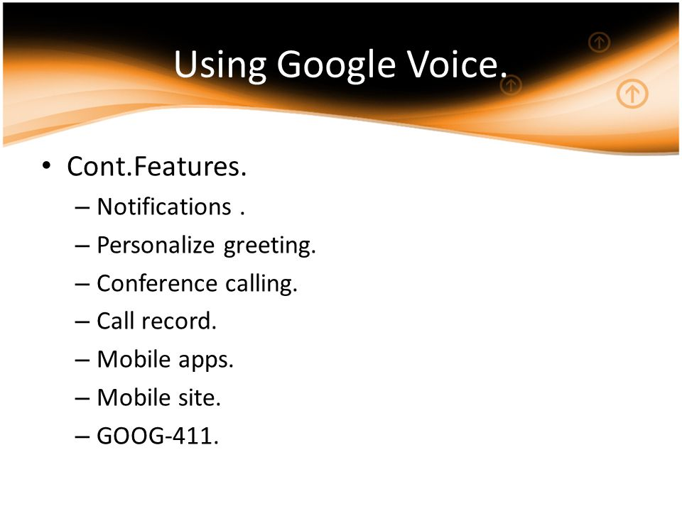 Google voice what can your phone number do by mohamad alhamada using google voice contfeatures notifications m4hsunfo