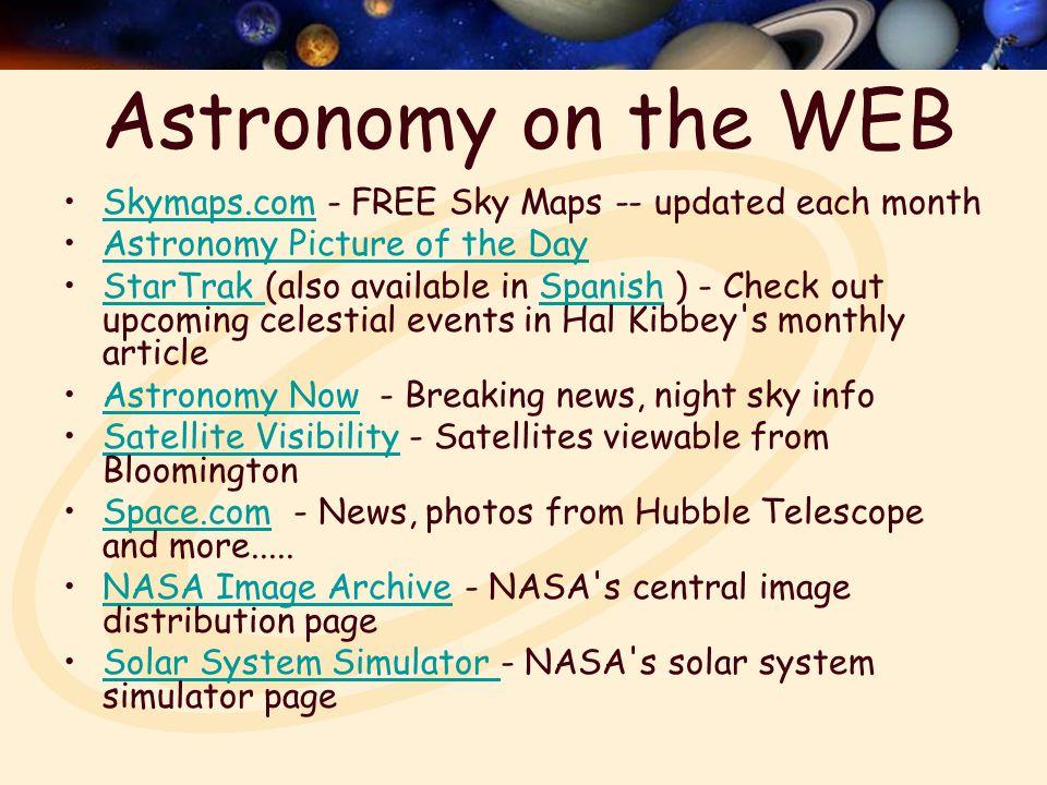 A Solar System Todays APODAPOD Today Backyard Astronomy - Night sky map now
