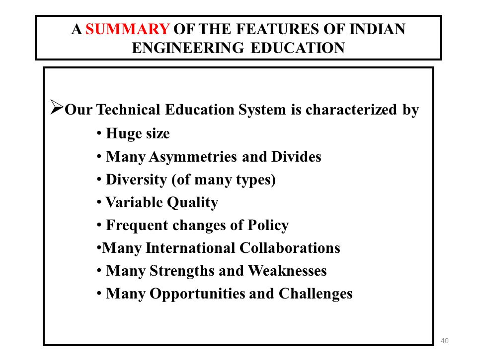strengths of indian education system