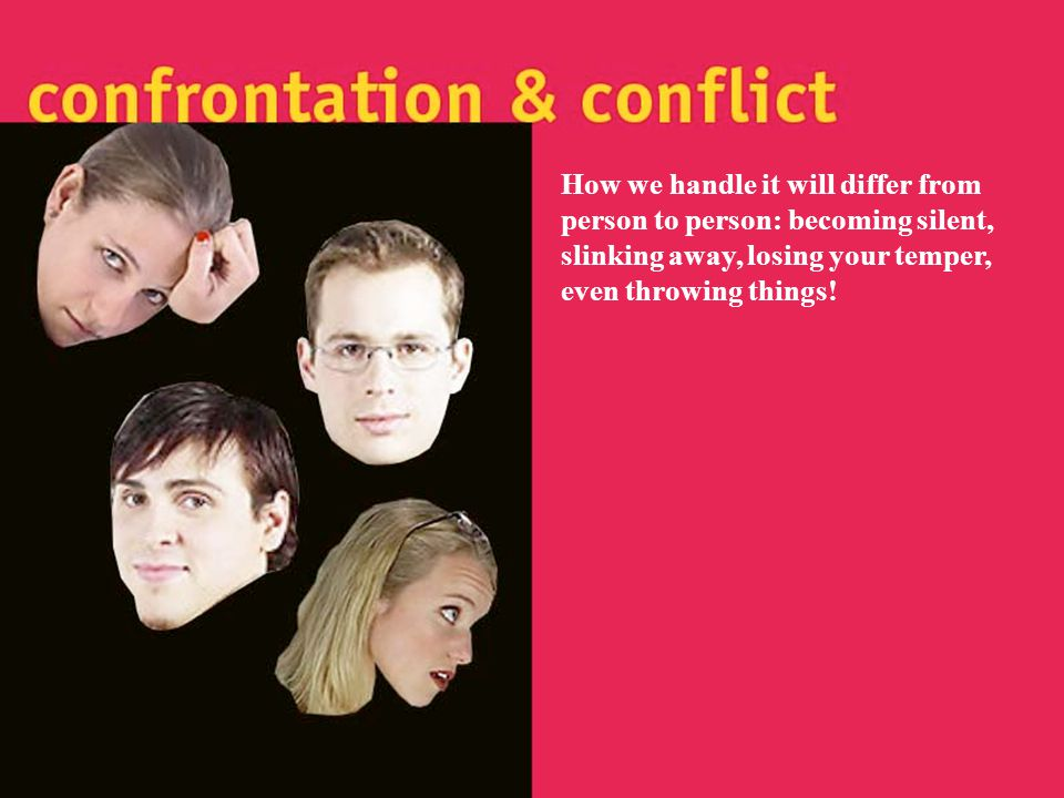 how to deal with confrontation in a relationship