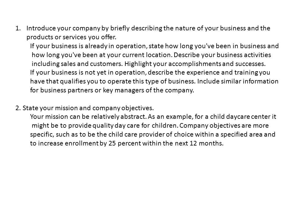 executive summary the executive summary section of your marketing