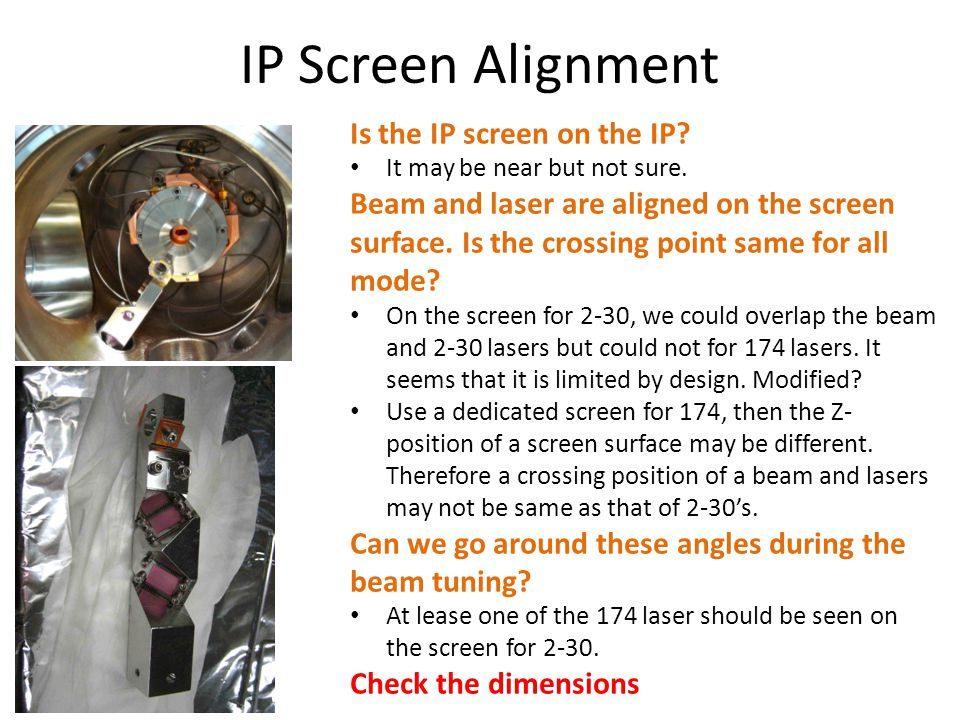IP Screen Alignment Is the IP screen on the IP. It may be near but not sure.