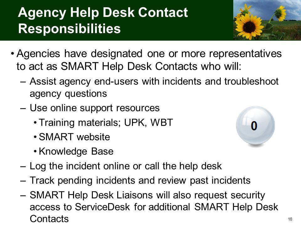 Good 18 18 Agency Help Desk Contact Responsibilities Agencies Have Designated ...