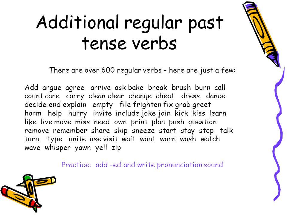 Simple past tense verbs regularirregular simple past tense regular 4 additional regular past tense m4hsunfo