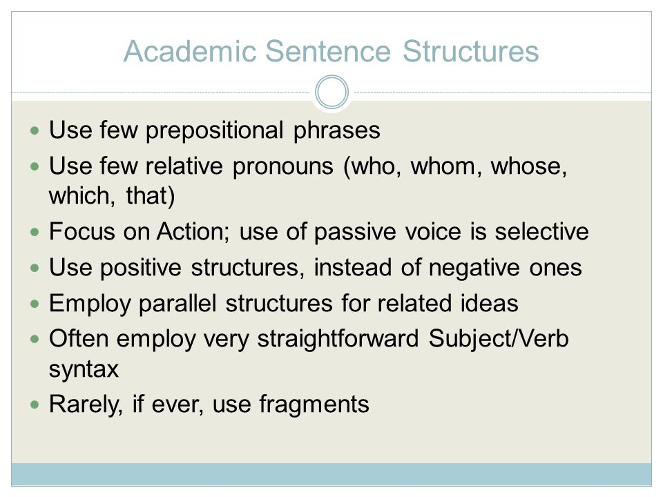 UAB UNIVERSITY WRITING CENTER Improving Sentence Structures for