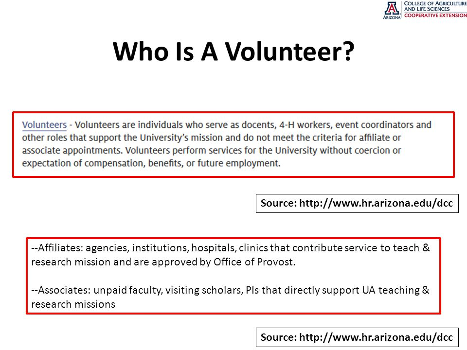 Who Is A Volunteer.