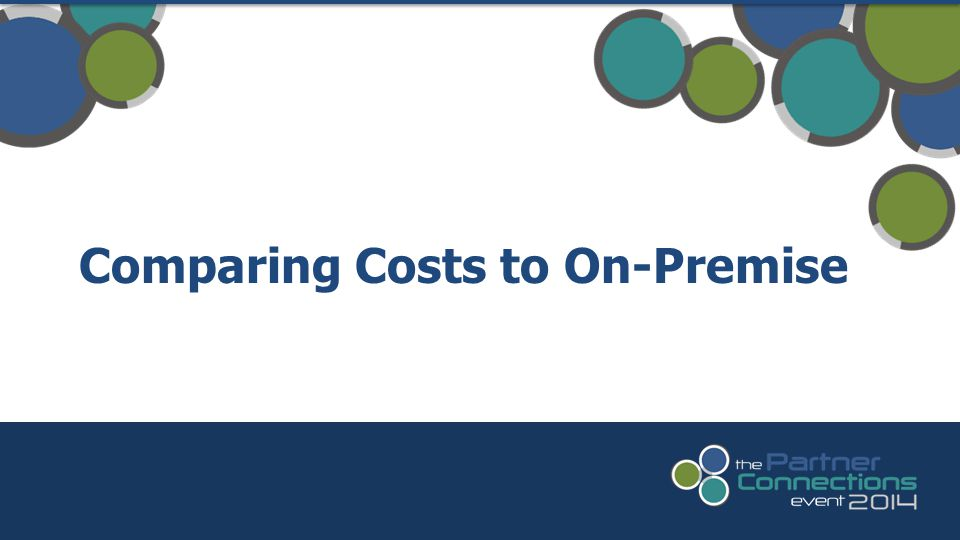 Comparing Costs to On-Premise