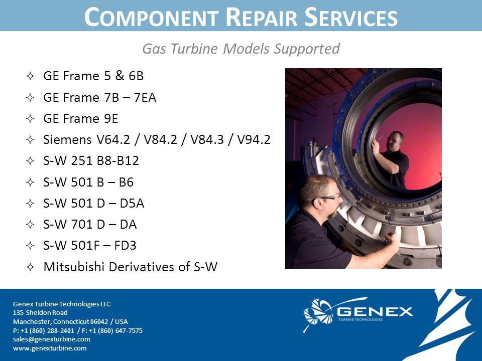 INTRODUCTION TO GENEX August Genex Turbine Technologies LLC