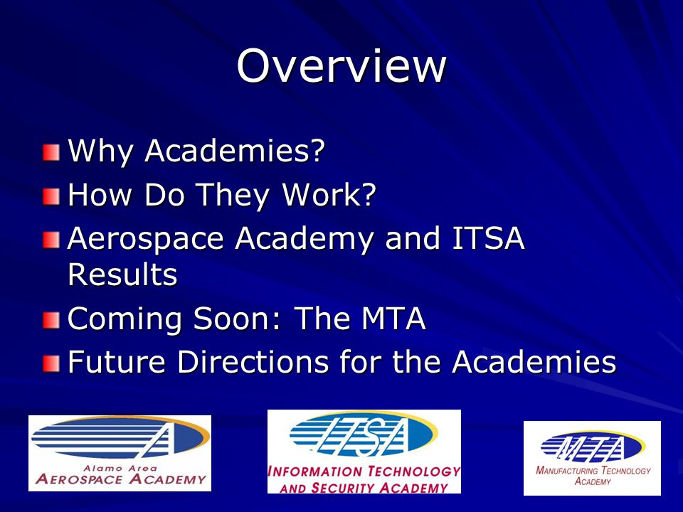 Overview Why Academies. How Do They Work.