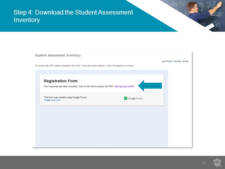 Step 4: Download the Student Assessment Inventory 12