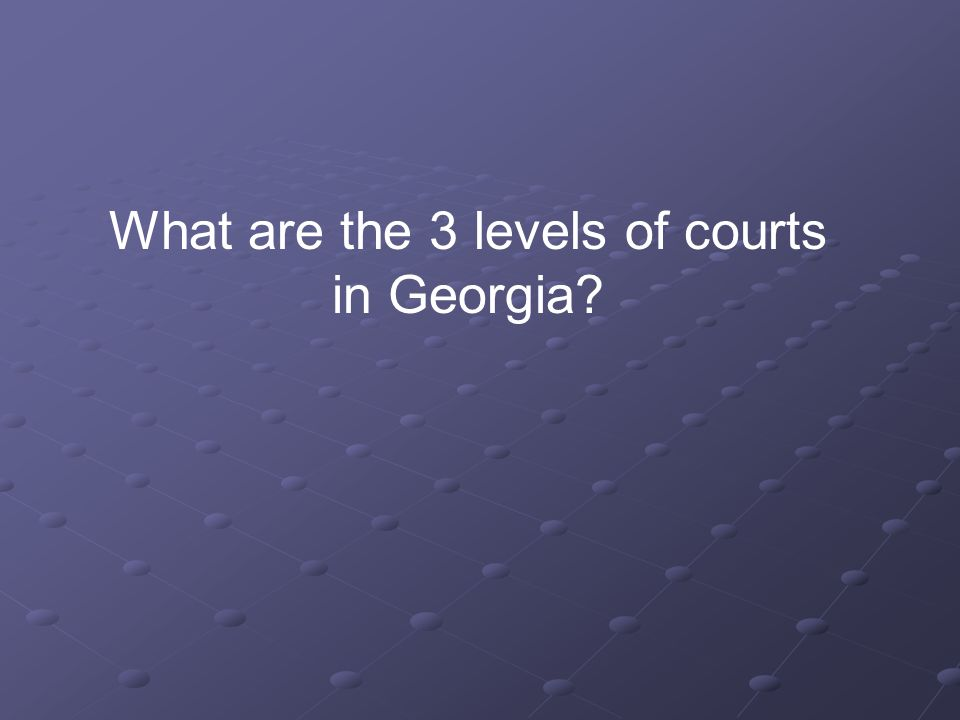 What are the 3 levels of courts in Georgia