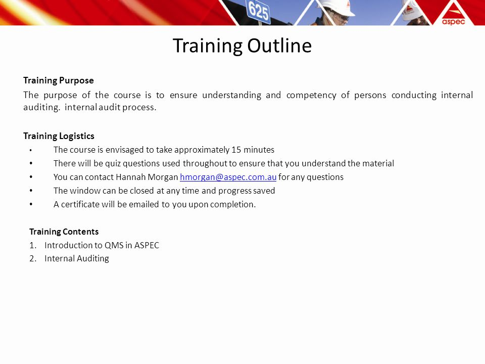 ASPEC Internal Auditor Training Version ppt download