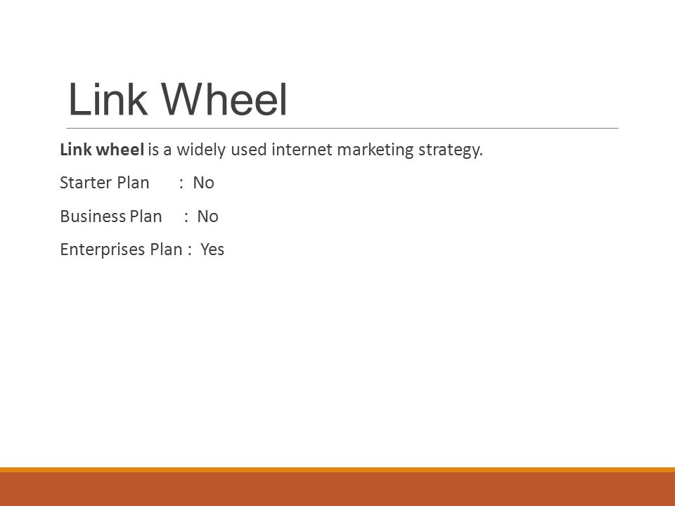 Link Wheel Link wheel is a widely used internet marketing strategy.