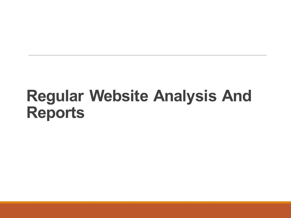 Regular Website Analysis And Reports