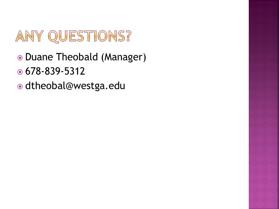  Duane Theobald (Manager)  