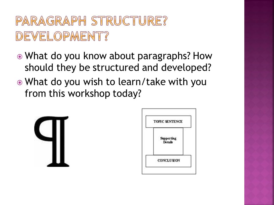  What do you know about paragraphs. How should they be structured and developed.