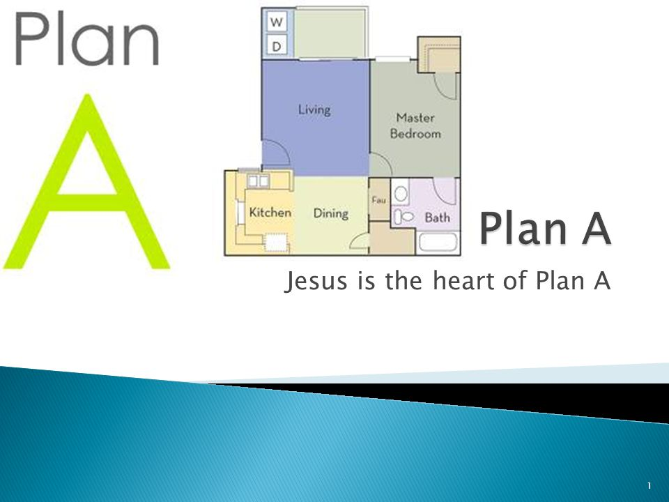 Jesus is the heart of Plan A 1