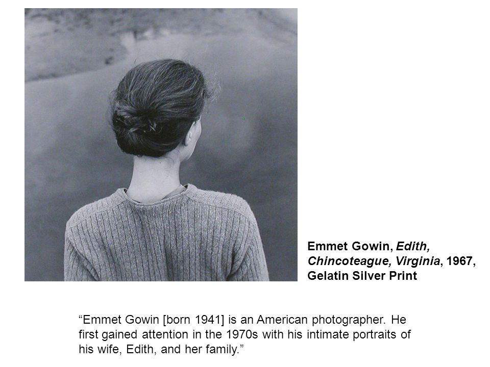 Emmet Gowin [born 1941] is an American photographer.