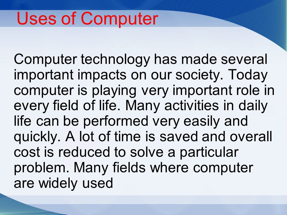 importance of computer in science and technology