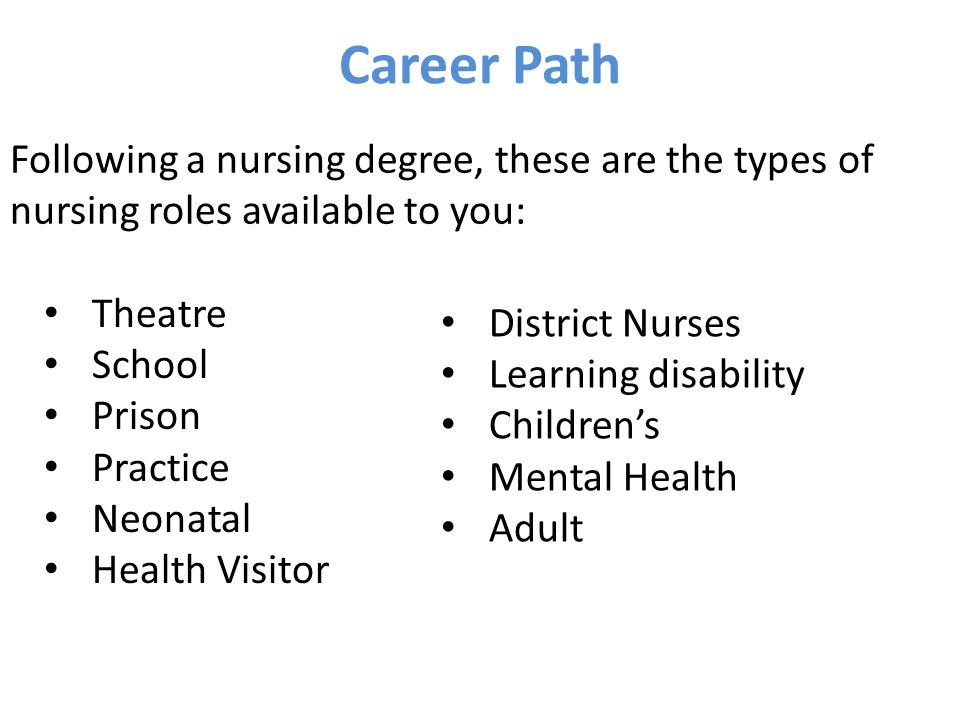 career path as a nurse There are a few quizzes that can change your life, for sure - anything in which you might stand to win millions of dollars or a life-changing job with a superstar businessman, for example but, in reality, these are not the route to career and.