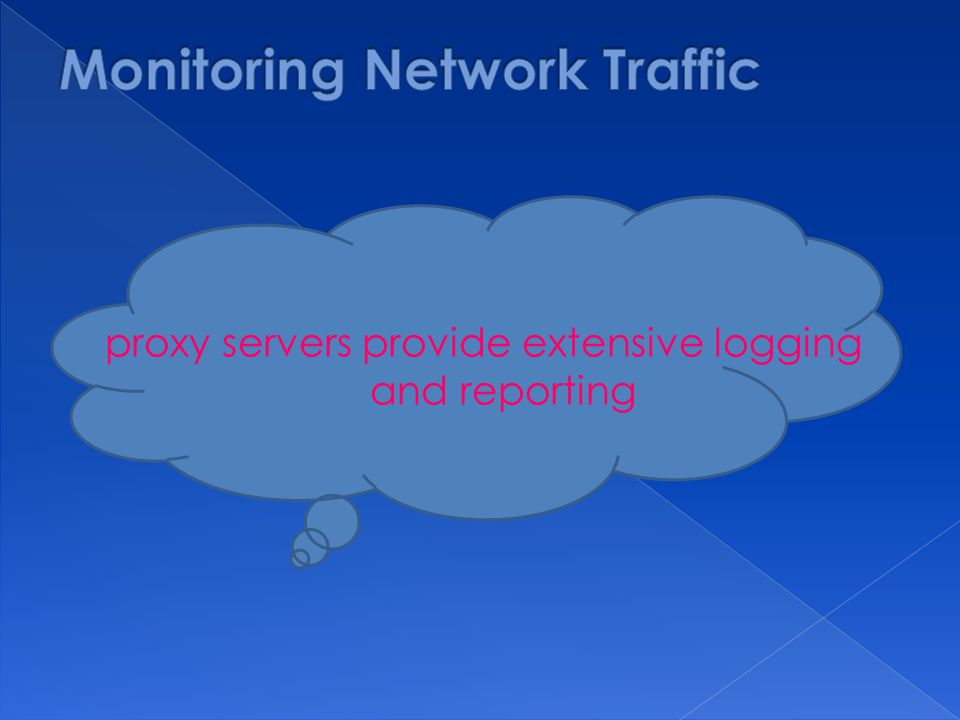 proxy servers provide extensive logging and reporting