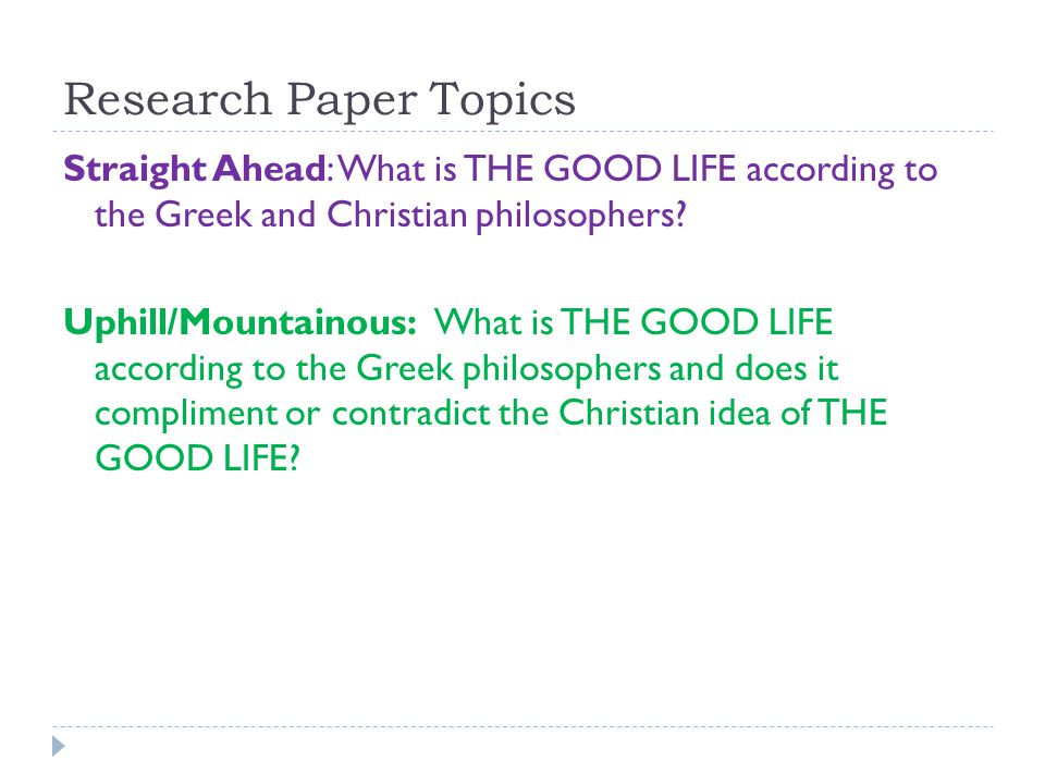 christian research paper topics