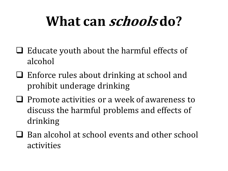 What can schools do.