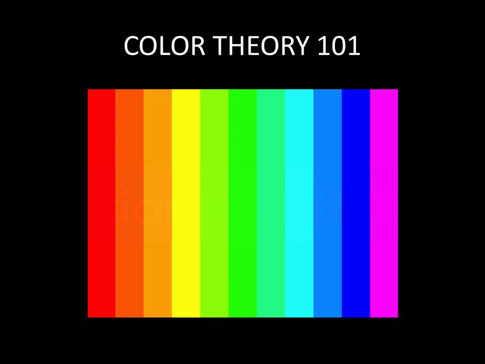 Color Theory 101 Light The Visible Spectrum The Color Wheel The