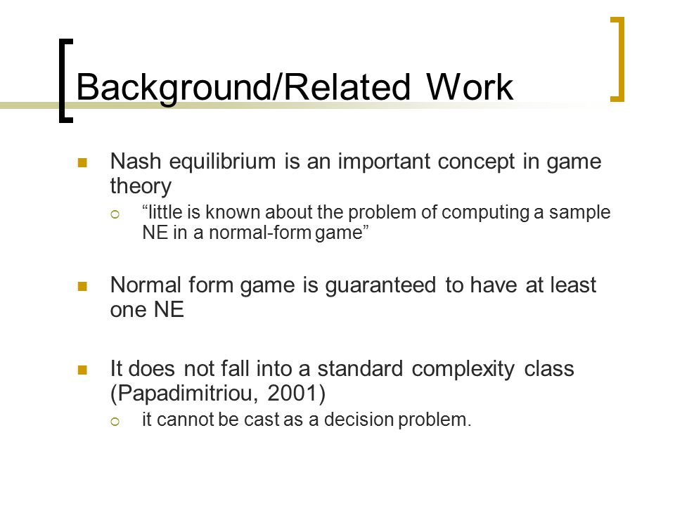 Simple Search Methods For Finding A Nash Equilibrium Ryan Porter