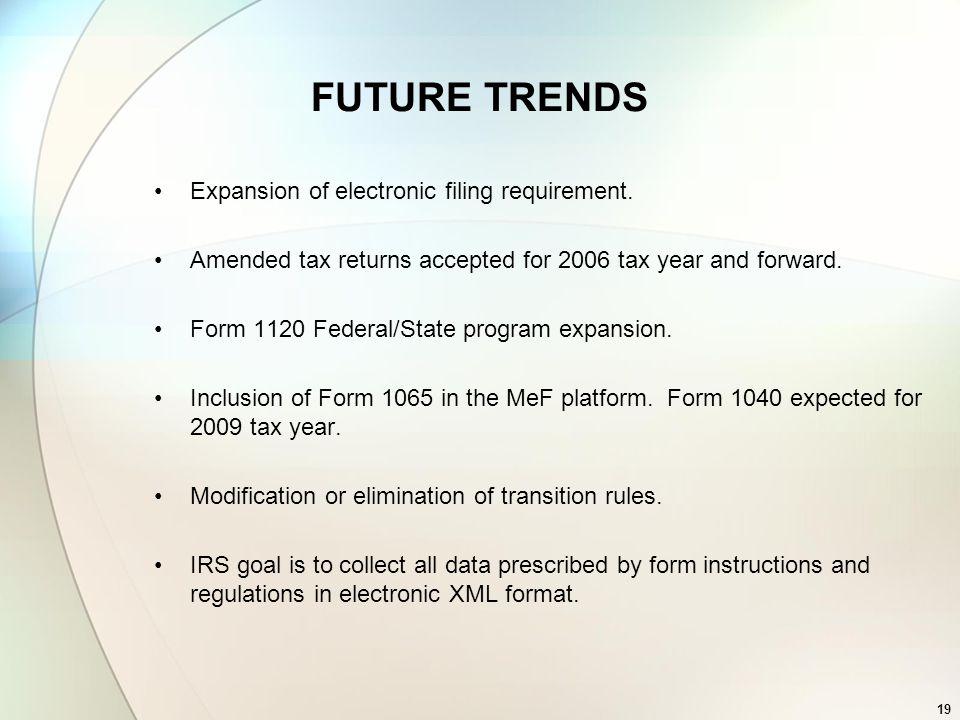 Internal Revenue Service Mandatory Corporate E File Program American