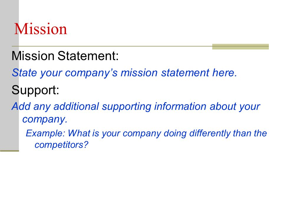 Business Review This template is used to assist in the