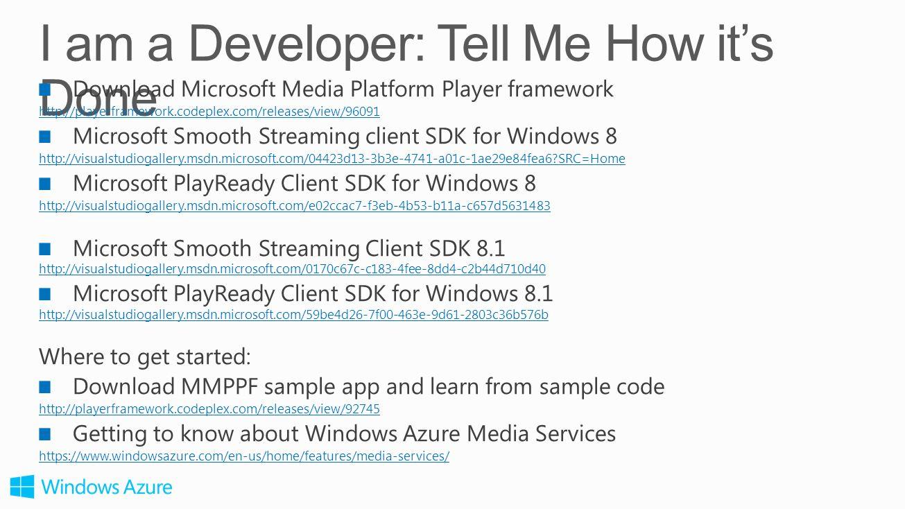 Mingfei Yan Program manager Windows Azure Media Services