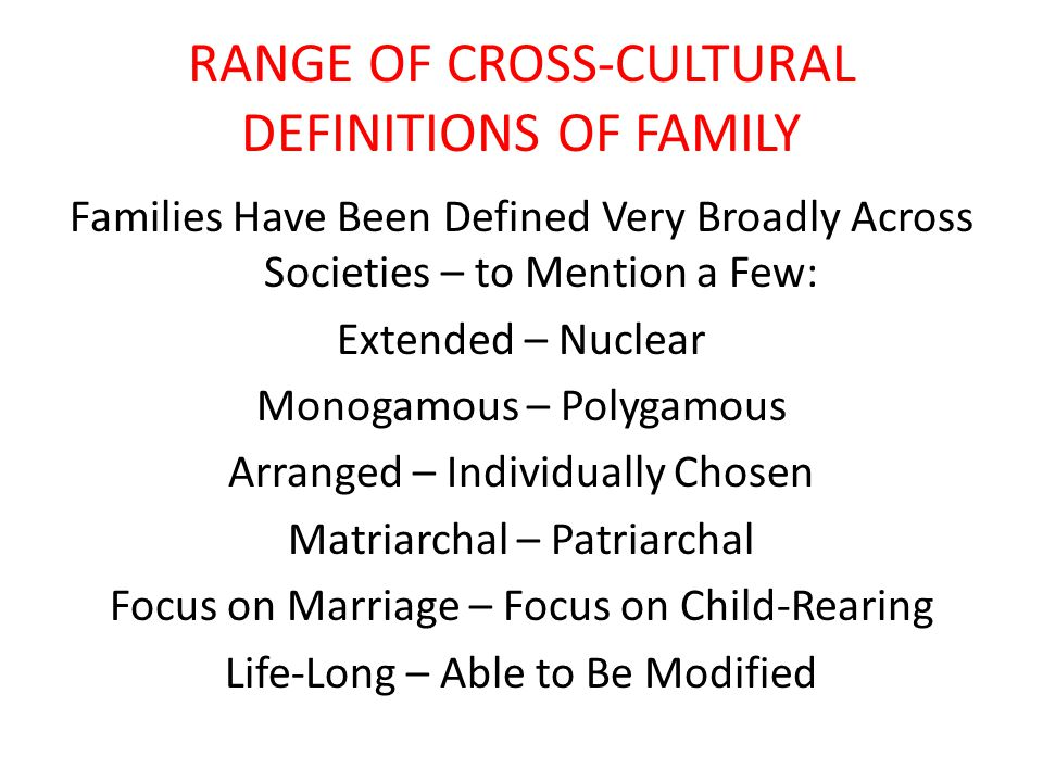 THE FAMILY: HOW FAR DOES IT EXTEND? SOC 3300 – Social Inequality Dr