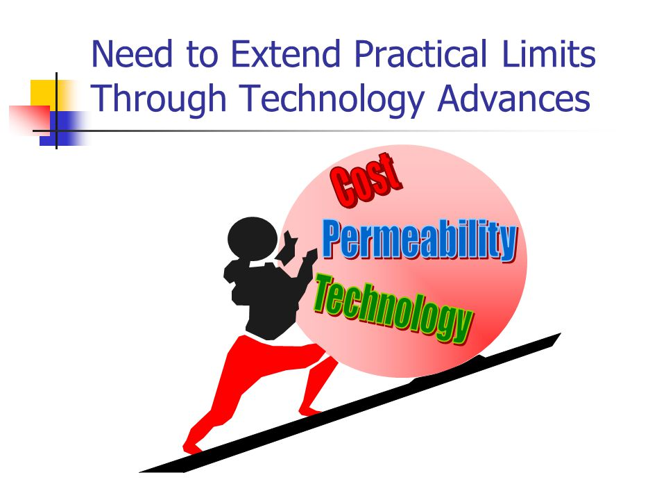 Need to Extend Practical Limits Through Technology Advances