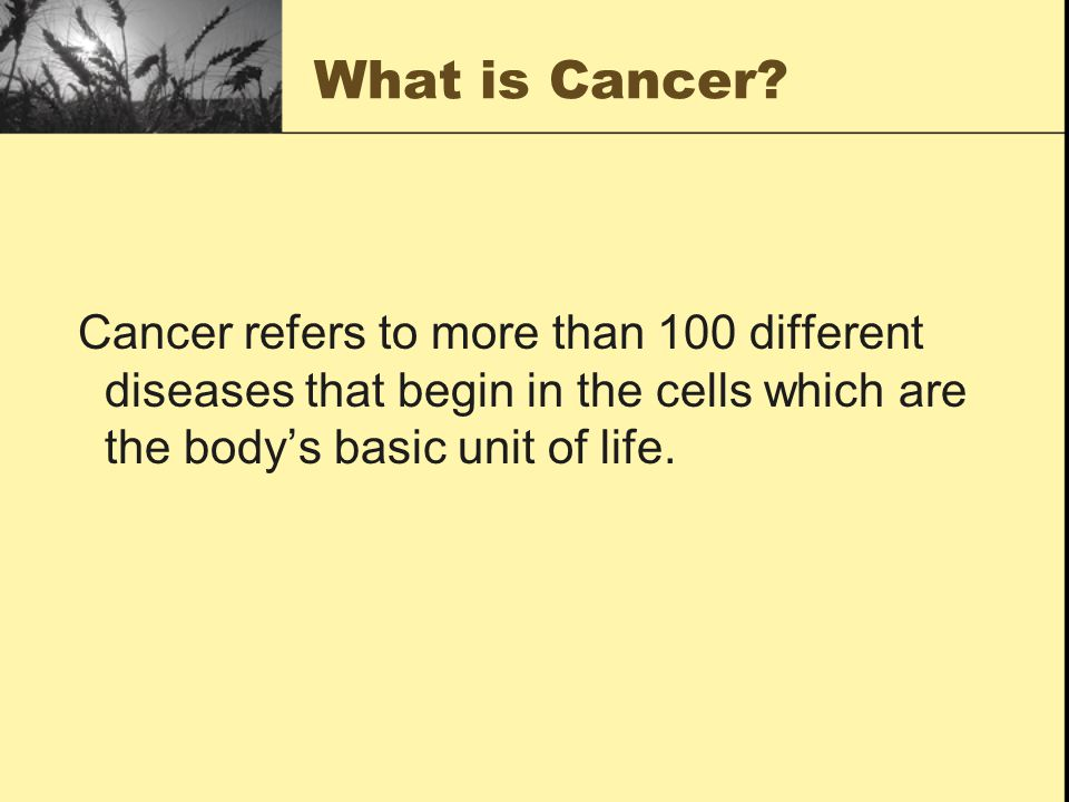 What is Cancer.