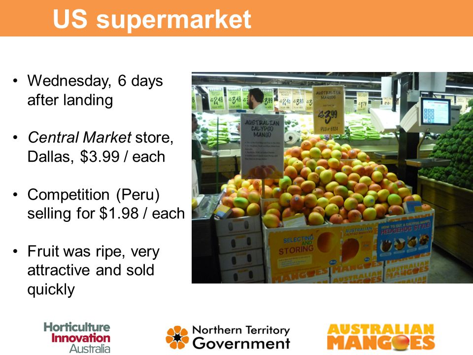 Experiences Accompanying First Australian Mango Shipment to