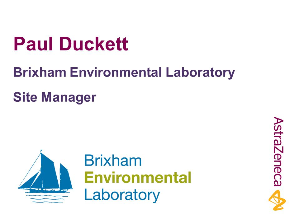 Paul Duckett Brixham Environmental Laboratory Site Manager
