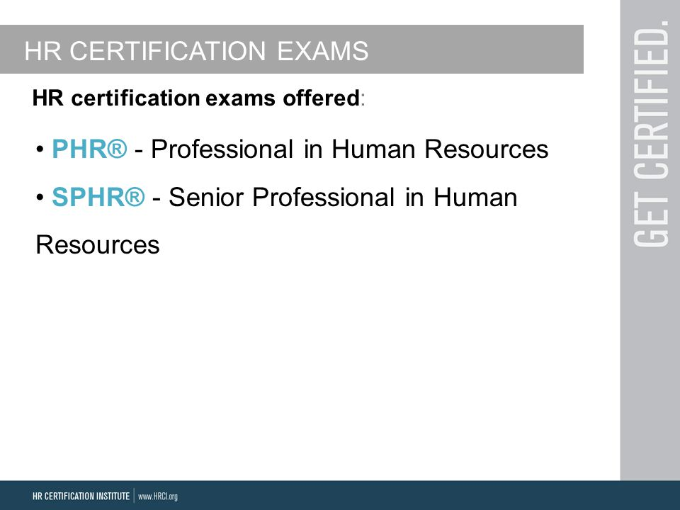 The Benefits Of Hr Certifications For The Military Presented By