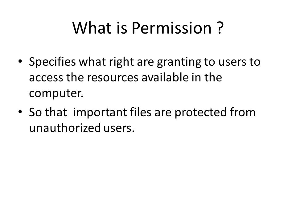 What is Permission .