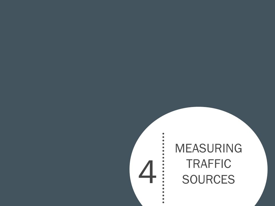 4 MEASURING TRAFFIC SOURCES
