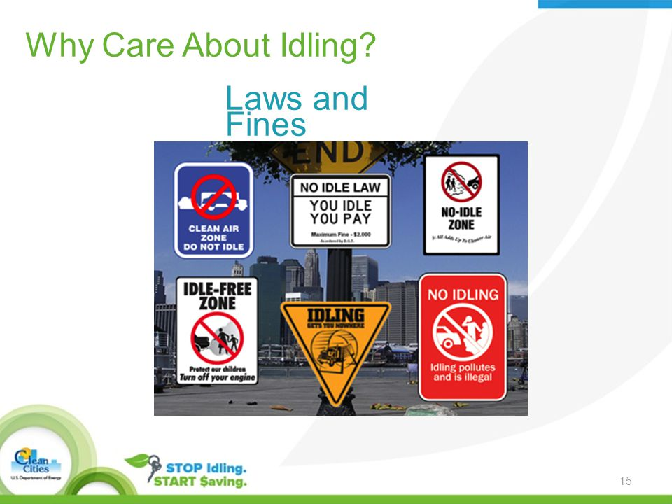 Why Care About Idling Laws and Fines 15