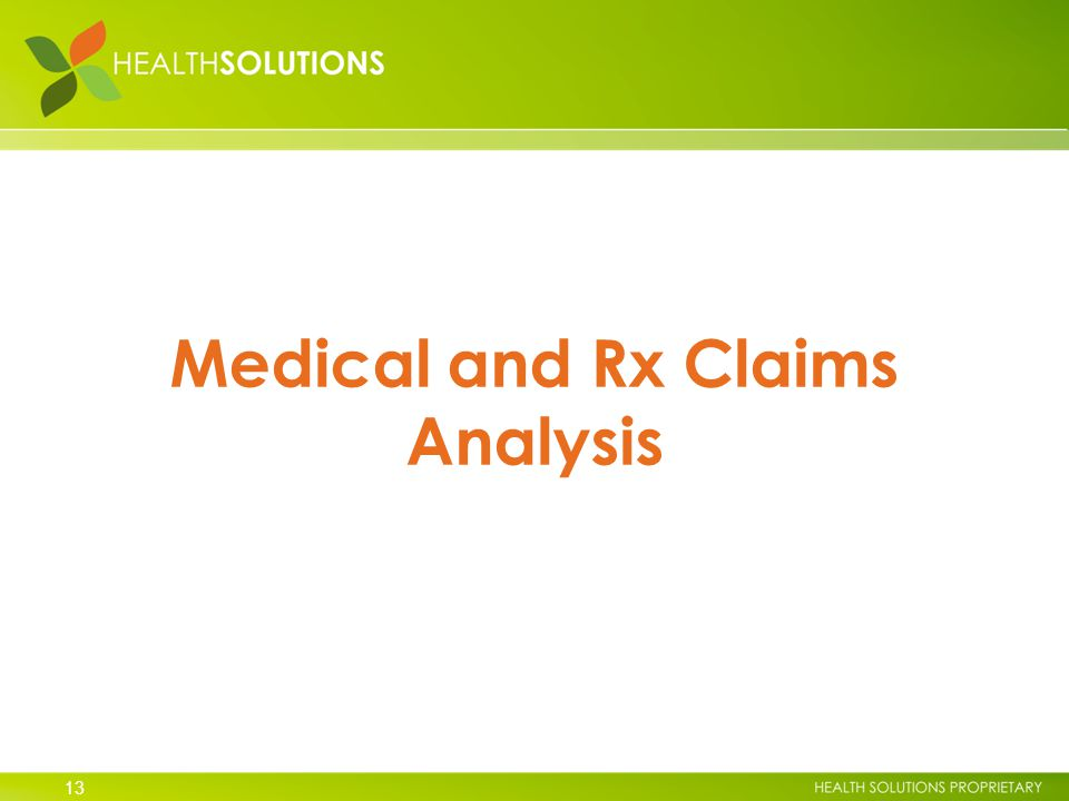 13 Medical and Rx Claims Analysis