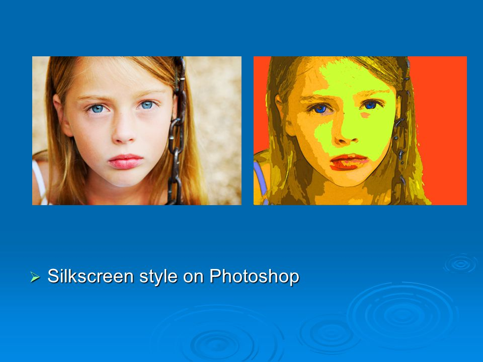  Silkscreen style on Photoshop