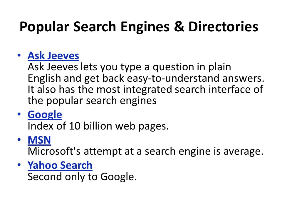 Web Searching  Web Search Engine A web search engine is designed to