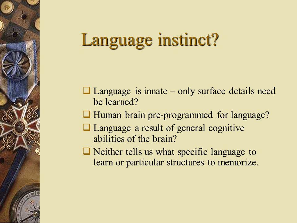 is language innate or learned