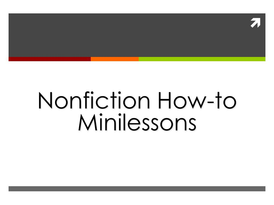  Nonfiction How-to Minilessons