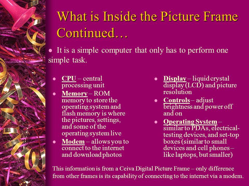 Digital Picture Frames Technology Presentation LIT 501- Claire ...